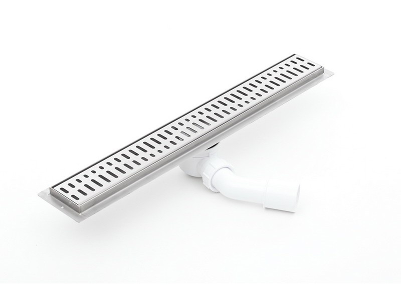 Linear Stainless Steel Shower Drain With Grate And 600mm