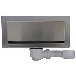 Wall shower drains systems